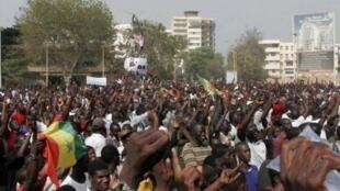 Manifestações dos motins de 23 de junho em Dacar