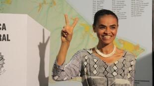 Marina Silva, candidata do partido PV.