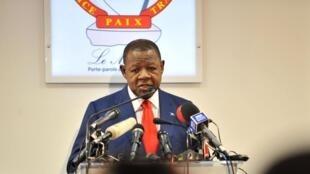 Lambert Mende, ministre congolais de la Communication et porte-parole du gouvernement.
