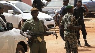 Malian soldiers at their headquarters in Kati, outside Bamako