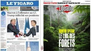 A imprensa francesa destaca o sucesso do presidente Emmanuel Macron na condução da cúpula do G7 e a queda-de-braço com Jair Bolsonaro.