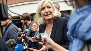Marine le Pen à Hénin-Beaumont le 8 septembre 2019.