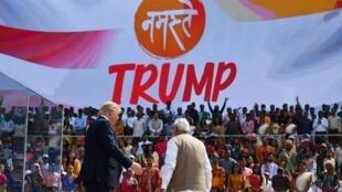 Le Premier ministre indien, Narendra Modi a sorti le grand pour accueillir le président américain, Donald Trump.