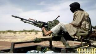 Un combattant d'Aqmi, dans le nord du Mali, janvier 2013.