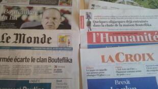 Primeiras páginas dos jornais franceses 03 de abril de 2019