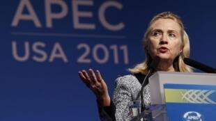 Госсекретарь США Хиллари Клинтон. Перед саммитом АТЭС в Гонолулу (США), 11 ноября 2011