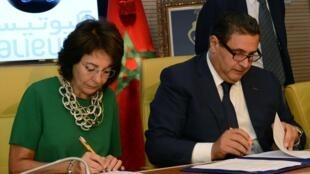 Aziz Akhannouch (à droite), ministre marocain de l'Agriculture et de la Pêche.