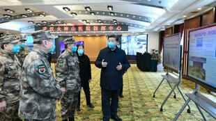 Xi Jinping durante su primera visita a Wuhan tras la crisis el pasado 10 de marzo