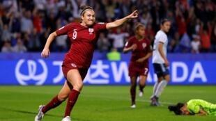 Jodie Taylor celebrates her goal against Argentina in Le Havre, France 14 June, 2019.