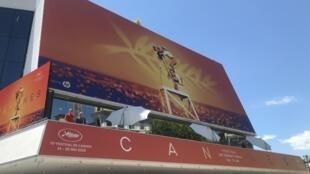 Tapete vermelho no Palácio dos festivais de Cannes a 14 de Maio de 2019.