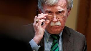 Cựu cố vấn An ninh Quốc gia Mỹ John Bolton, trong một cuộc họp tại Nhà Trắng, Washington, ngày 02/04/2019.