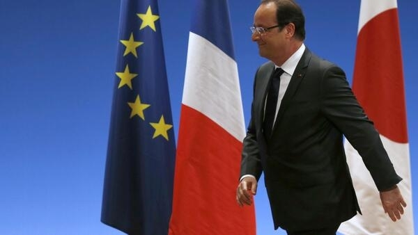 Frenchh President François Hollande in Japan last week