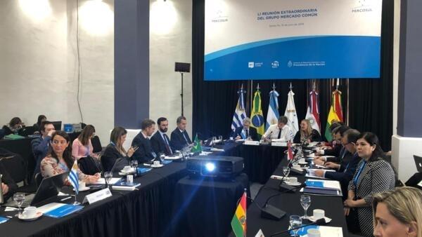 Os coordenadores do Grupo Mercado Comum (GMC) reúnem-se na cidade de Santa Fé antes da 54ª Cúpula dos Presidentes do Mercosul, em 15 de julho de 2019.