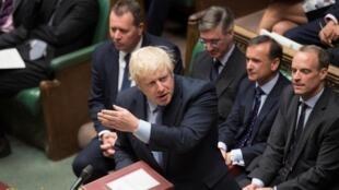 Thủ tướng Anh Boris Johnson phát biểu tại Nghị Viện, Luân Đôn, ngày 04/09/2019