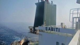 Hình ảnh tàu Sabiti được phát trên truyền hình Nhà nước Iran.