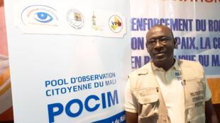 Ibrahima Sango est le chef de la mission d'observation du POCIM, le Pool d'observation citoyenne du Mali