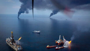 BP oil spill, Gulf Coast, April 2010