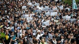 Giáo viên Hồng Kông xuống đường biểu tình đòi dân chủ, 17/08/2019.