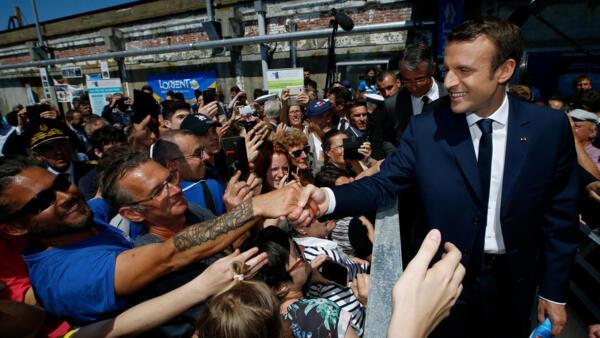 El presidente Emmanuel Macron.