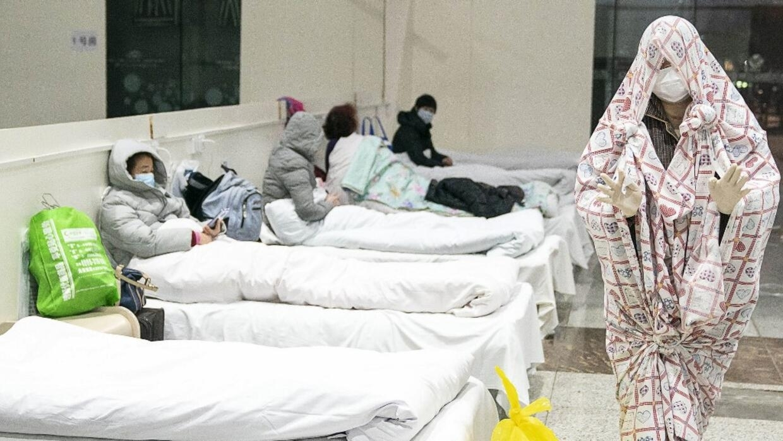 Trung tâm Hội nghị và triển lãm biến thành bệnh viện tại Vũ Hán, Trung Quốc. Ảnh chụp ngày 05/02/2020