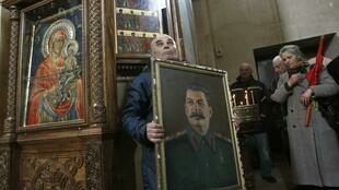 Заупокойная служба на родине Сталина, в Гори, 5 мартя 2013 г.