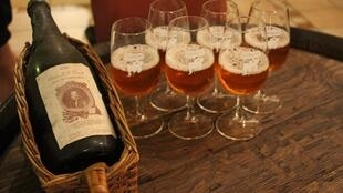Garrafa da cervejaria belga Cantillon.