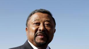 圖為加蓬總統大選中反對派支持主要候選人溫州裔的讓平