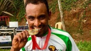 L'Erythréen Mekseb Debesay champion d'Afrique 2018 du contre-la-montre individuel.