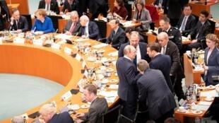 Открытие международной конференции по Ливии, Берлин, 19 января 2020.
