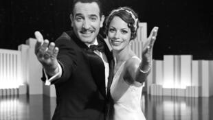 """Os atores Jean Dujardin e Bérénice Bejo em cena de """"The Artist""""."""