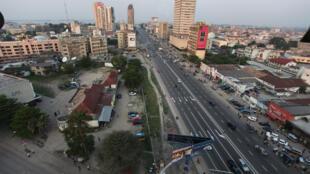 Une vue du centre-ville de Kinshasa, la capitale congolaise.