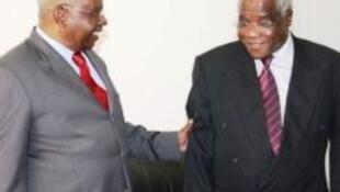Armando Guebuza, Presidente da Repúbica de Moçambique e Afonso Dhlakama, líder da Renamo