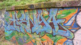 Graffiti sur un mur - Kenya 2008.