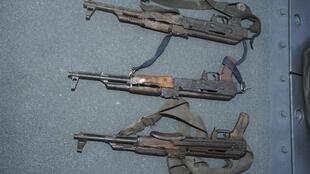 AK-47 rifles, used by Somali pirates which the South Korean navy captured in Arabian sea