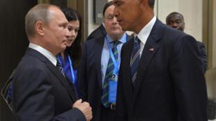 Vladimir Poutine et Barack Obama au G20 en Chine, le 5 septembre 2016.