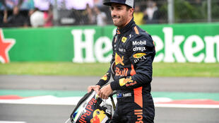 Daniel Ricciardo will start just ahead of his Red Bull teammate, Max Verstappen, at the Mexican Grand Prix.