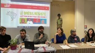 Representantes de diversas organizações anunciaram em Paris o lançamento de um site no qual um banco de dados revela a degradação dos direitos humanos no Brasil.