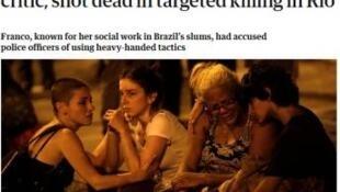 Reprodução da matéria publicada nesta quinta-feira (15) no jornal britânico The Guardian.