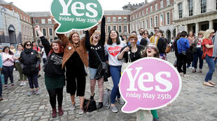 Manifestation en faveur du droit à l'IVG, ici le 26 mai à Dublin (photo d'illustration).