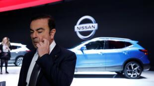 Carlos Ghosn, PDG de Renault-Nissan, le 7 mars 2017. Le rapport circonstancié par Bercy pointe sa responsabilité directe dans l'affaire du «Dieselgate» à la française.
