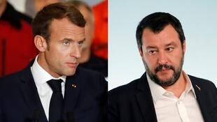 Emmanuel Macron e Matteo Salvini, duas visões de Europa.