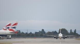 Des avions British Airways sur le tarmac du terminal 5 de l'aéroport d'Heathrow, le 9 septembre.