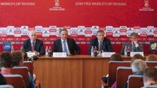 Em entrevista coletiva na Rússia, nesta quarta-feira, Jerôme Valcke falou sobre a decisão da Fifa de adiar a escolha da sede da Copa do Mundo de 2026.