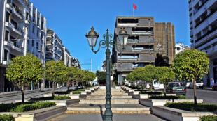Le centre de Rabat, la capitale du Maroc.