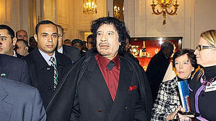 Libyan leader Moamer Kadhafi visits the Ritz for a meeting with French bosses