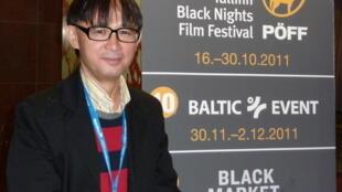 Zhanabek Zhetiru, réalisateur kazakh du film «Akkyz», au 15e Festival du film «Nuits noires» de Tallinn.