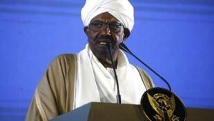 Rais Omar Al Bashir katika hotuba yake ya mwaka mpya jijini Khartoum Desemba 31 2018
