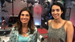 "Gláucia Nogueira, co-fundadora do coletivo Iandé e Ioana Mello, curadora da mostra ""What's going on in Brazil"""