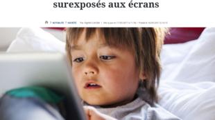 Jornal Le Figaro desta quarta-feira (17) alerta que bebês e crianças são cada vez mais superexpostos a suportes tecnológicos na França.