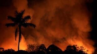 Fogo na região de Porto Velho, Rondônia, em agosto de 2019